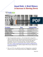 The US National Debt-Brief History