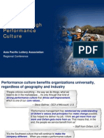 Building a High Performance Work Culture