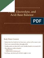 Fluid, Electrolyte, Acid Base Balance