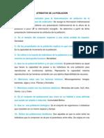 Atributos de La Poblacion