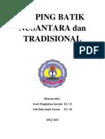 Kliping Batik Nusantara Dan Tradisional