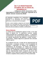 Inia y La Investigacion Agropecuaria