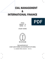 Financial Management & Int Finance Study Text P-12