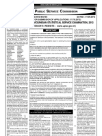 Notification UPSC ISS IES Exam 2012 English