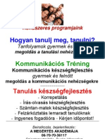 A MEGÉRTÉS AKADÉMIÁJA - Rendszeres programjaink