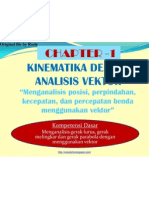Kinematika Dengan Analisis Vektor