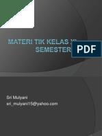 Materi Tik Kelas Xi