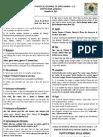Folheto de Cantos Para Setembro de 2012 Hrsm