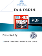 90753627 Presentation on Tata Corus Merger Case