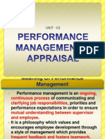 Performance Managgement & Appraisal
