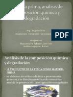 Materia prima, análisis de composición química  - poitn