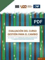 Informe Evaluacion Curso Gestion Para El Cambio Caf