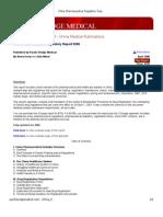 China Pharmaceutical Regulatory Report 2008