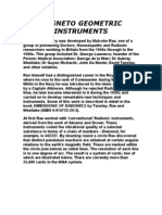 Magneto Geometric Instruments