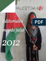 Editoriales Palestina Hoy Julio 2012