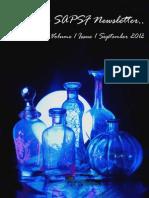 SAPSF Newsletter Volume 01 Issue 01