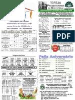 Boletim Informativo do mês de Setembro de 2012