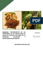 Proyecto Productivo de Cacao - San Pablo