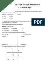 Banco de Atividades de Matematica 1 6c2ba Ano 1c2aa Etapa 2011