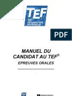 Manuel Du Candidat Au Tef Epreuves Orales1