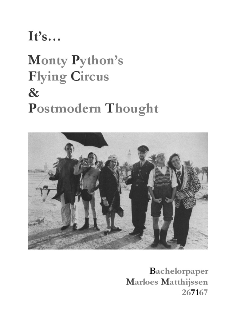 Monty python logic vs sex discussion