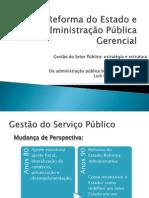 Reforma do Estado e Administração Pública Gerencial