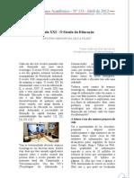 Artigo - Resvista Espaço Acadêmico - Século XXI - O Século da Educação
