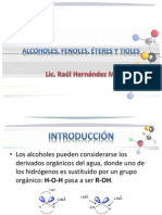 Alcoholes Fenoles Eteres y Tioles