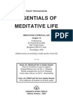 Essentials of Meditative Life