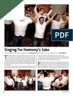 For Harmony's Sake
