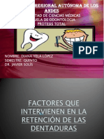 Factores de Retencion de Las Dentaduras