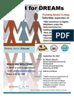 PATH for DREAMs POSTER for SEPT 22 EVENT - DACA, GOTV, OAV
