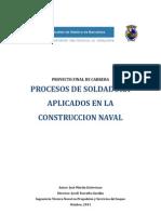 PFC- Procesos de Soldadura Aplicados en La Construccion Naval