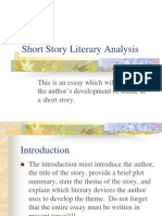 Short Story Literary Analysis 1