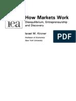 How Markets Work - Israel Kirzner