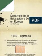 Historia de la Educación a Distancia en Europa