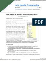 Unit 5 Part a - Moodle's Directory Structure