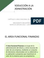 INTRODUCCIÓN A LA ADMINISTRACIÓN - CAPITULO IX - 2012
