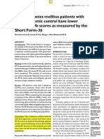 2010_Type 2 Diabetes Mellitus Patients With Poor Glycaemic Control Have Lower Quality of Life Scores as Measured by the SF-36