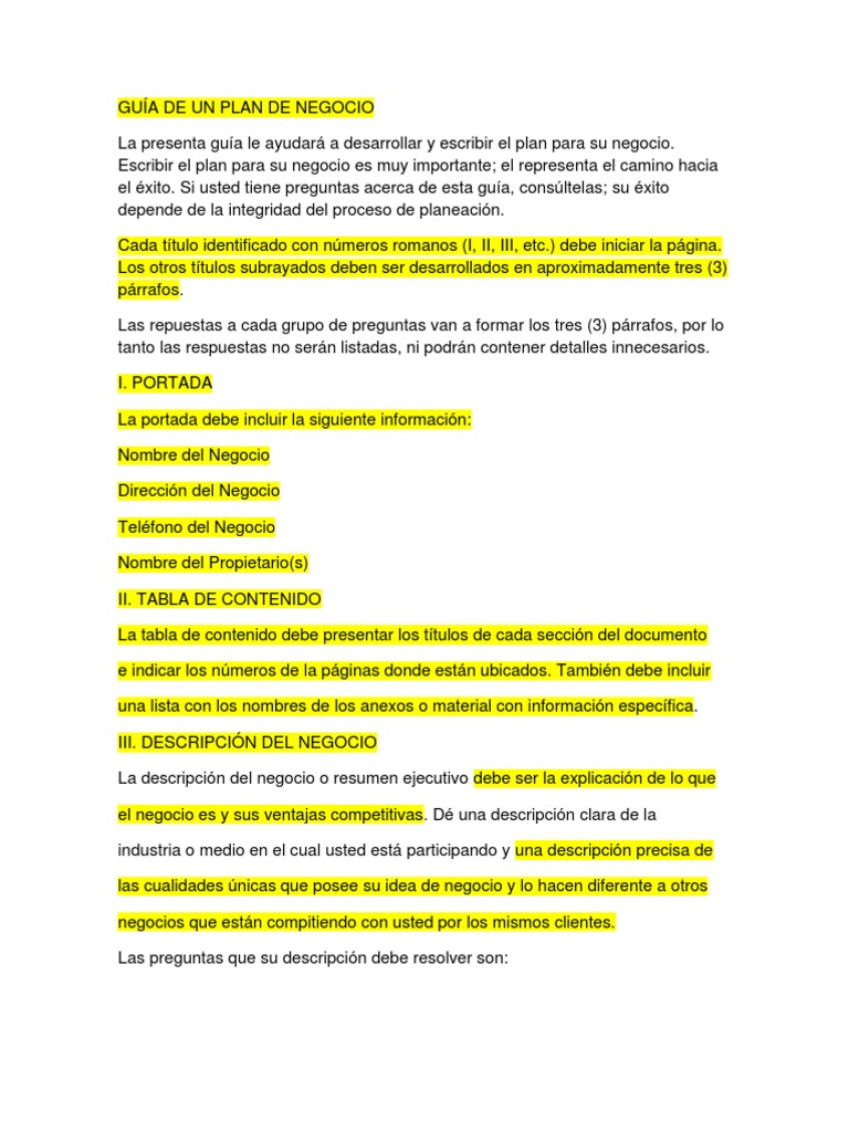 Best Business Plan Resumen Ejecutivo Photos - Entry Level Resume ...
