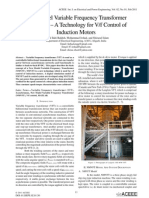 New Model Variable Frequency Transformer (NMVFT) – A Technology for V/f Control of Induction Motors