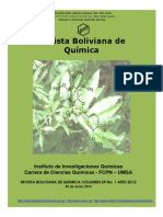 Bolivian Journal of Chemistry Vol 29 N 1 2012 Front Cover