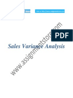 Accounting report based on Sales Variance Analysis