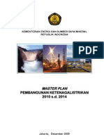 13. Master Plan Pembangunan Ketenagalistrikan 2010 s.d. 2014
