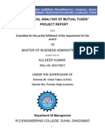 """22895041-""""statistical-Analysis-of-Mutual-Funds""""-Project-Report"""