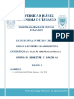 Cadena Epidemiologica y Cadena de Transmision