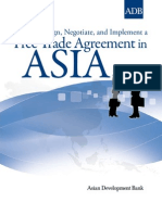 How to Design, Negotiate, And Implement a Free Trade Agreement in Asia