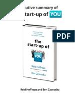 ExecutiveSummary- The Start Up of You
