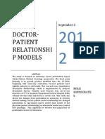 Doctor-patient Relationship Models