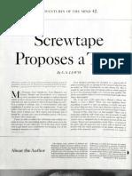 Screwtape Proposes a Toast SEP